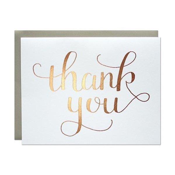 Parrott Design Card - Rose Gold Thank You