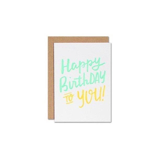 Parrott Design Card Mini - Happy Birthday