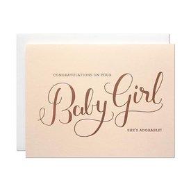 Parrott Design Card - Baby Girl