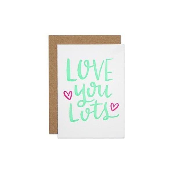 Parrott Design Card Mini - Love You Lots