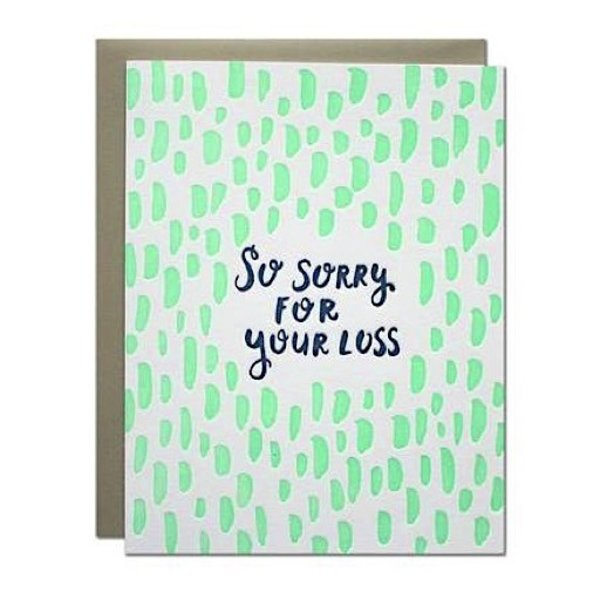 Parrott Design Card - Sorry For Your Loss