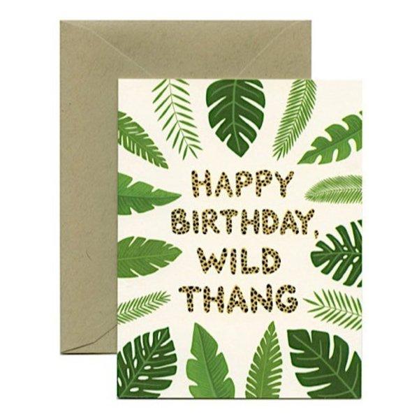 Yeppie Paper Wild Thang BIrthday Card