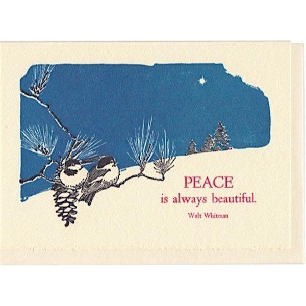 Saturn Press Holiday Card Box - Peace is Always Beautiful