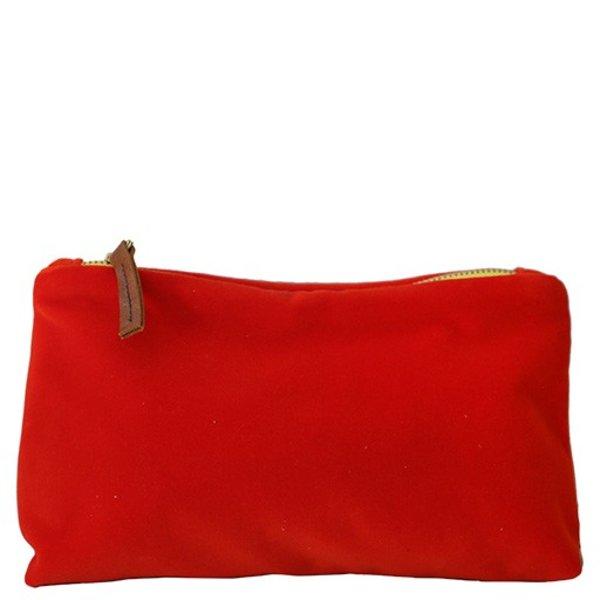 Erin Flett Make Up Zipper Bag - Velvet
