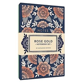 Rose Gold Notebook Set