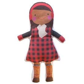 Sophie & Lili Kennebunkport Custom Doll Earmuff Brunette with Dark Skin Girl - Lumberjack Dress