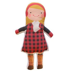 Sophie & Lili Kennebunkport Custom Doll Earmuff Blonde - Lumberjack Dress