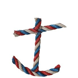 Cape Porpoise Trading Co. Recycled Rope Ornament - Anchor - Red/White/Blue