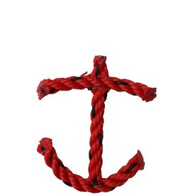 Cape Porpoise Trading Co. Recycled Rope Anchor Ornament - Red
