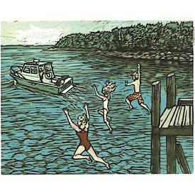 Blue Butterfield Card - Island Goodbye