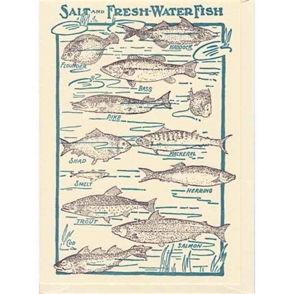 Saturn Press Fishes Card