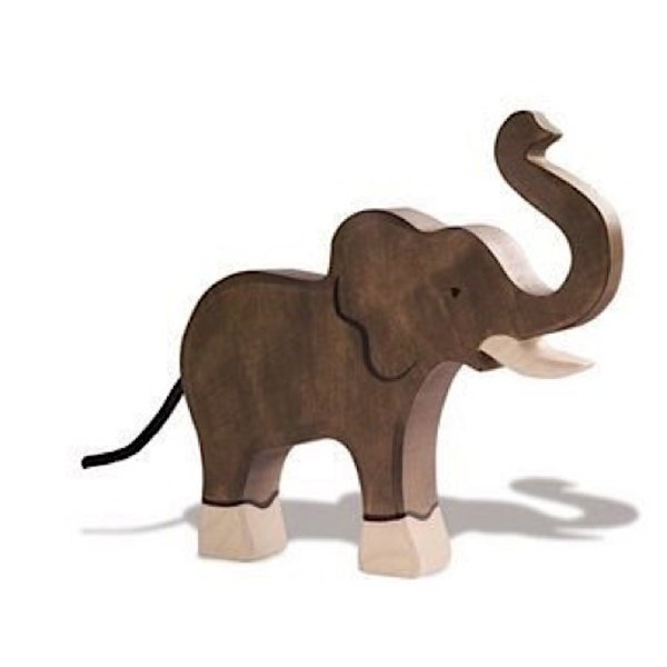 Holztiger Wooden Elephant - Raised Trunk