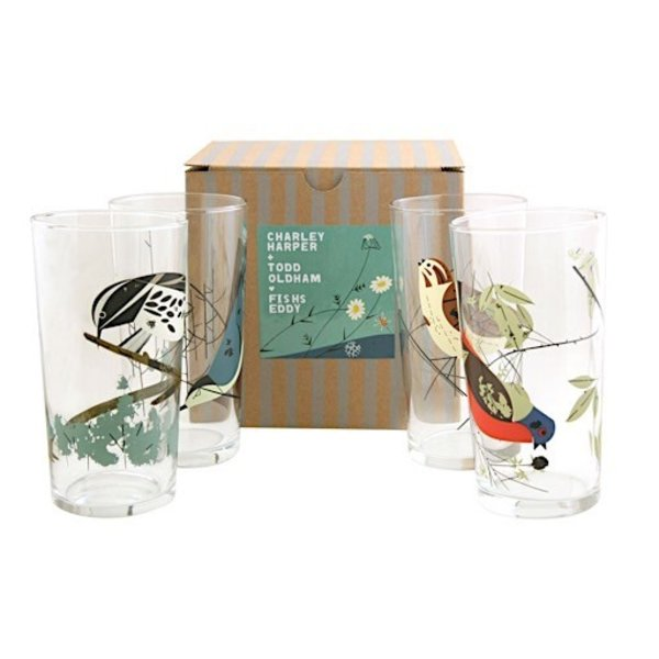 Oldham + Harper Bird Glasses Set of 4
