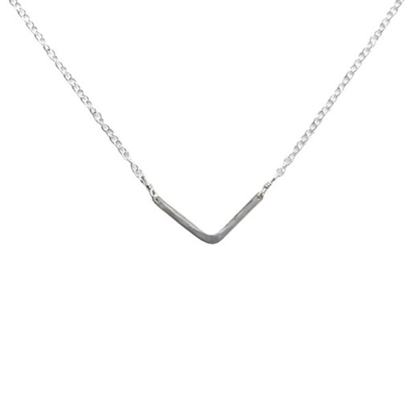Emma Alexander Necklace - Small Chevron - Sterling Silver