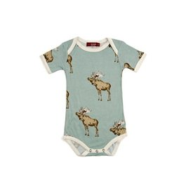 Milkbarn Bamboo Short Sleeve One-Piece