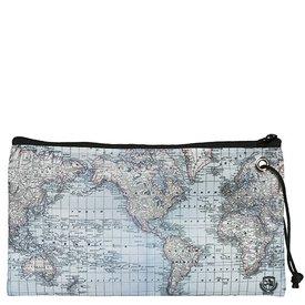 Sea Bags Custom Daytrip Society World Map Wristlet