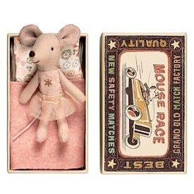 Maileg Mouse - Little Sister in Box - Gold Star Shirt/Tutu