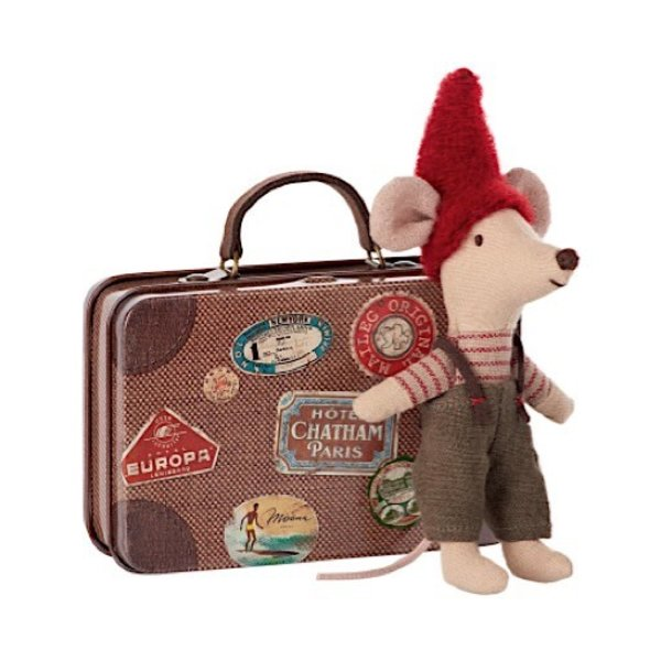 Maileg Mouse - Christmas Mouse in Travel Suitcase