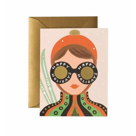 Rifle Paper Co. Card - Ski Girl Holiday