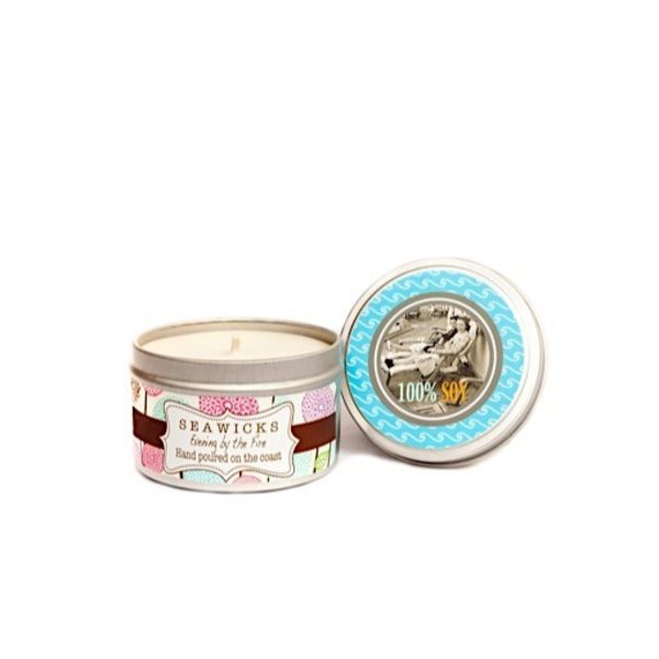 Seawicks Tin Candle - Evening By The Fire