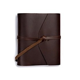 Rustico Traveler Leather Journal with Flap Tie