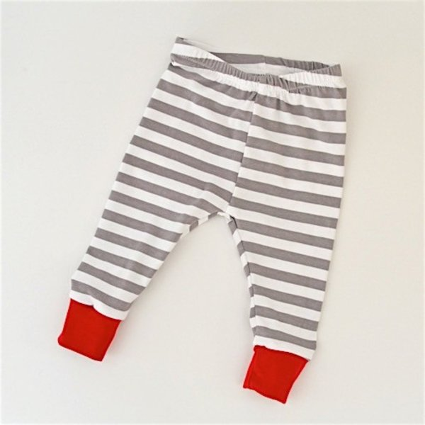 Two Little Beans Leggings - Holiday Stripe