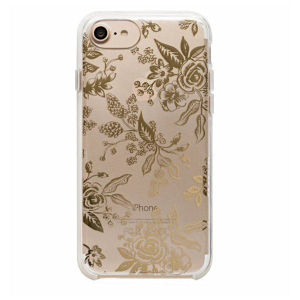 Rifle Paper Co. iPhone 6, 7 & 8 Clear Case - Clear Gold Floral Toile