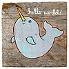 Mermaid Meadow Barnboard Narwhal Blue - 5x5