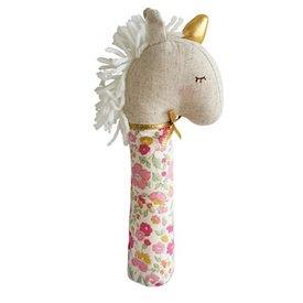 Alimrose Yvette Unicorn Squeaker - Rose Gold