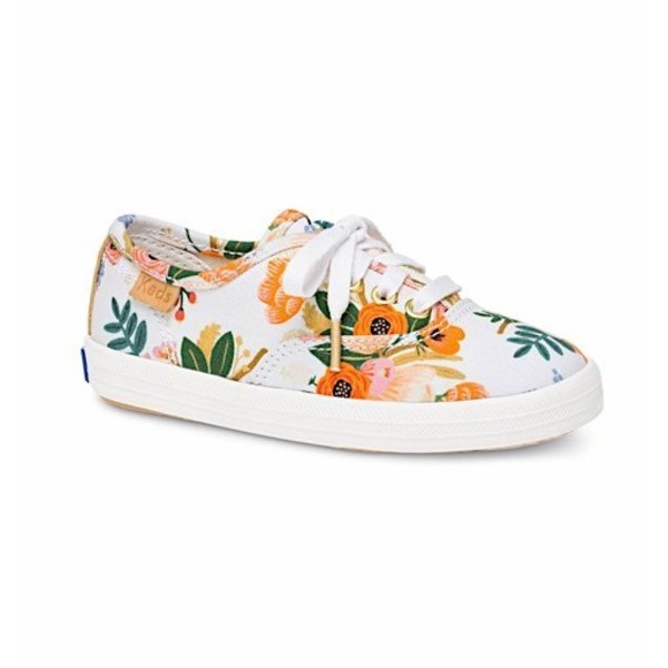 KEDS Little Kid + Rifle Paper Co. Champion Lively White