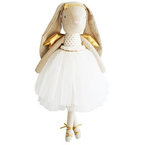 Alimrose Linen Estelle Angel Bunny - Gold