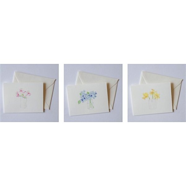 Sara Fitz Floral Card Set - Box of 12