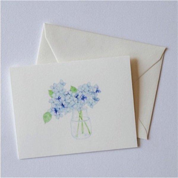 Sara Fitz Hydrangea Card