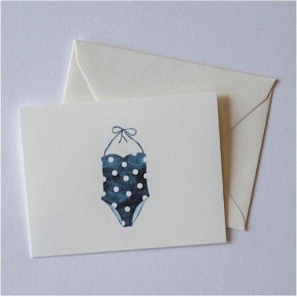 Sara Fitz Polka Dot Swimsuit Card