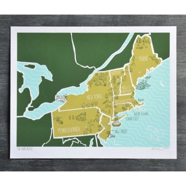 The Northeast Print - 11x14