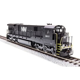 BROADWAY LIMITED IMPORTS 2453 HO GE C30-7, N&W #8036, Black with White, Paragon2 Sound/DC/DCC