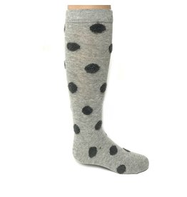 Memoi Memoi Fuzzy Dot Knee Socks