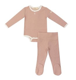 Fragile! Fragile Striped Pink Baby Set