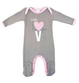 Coton PomPom Coton PomPom Love Pink/Grey Footie