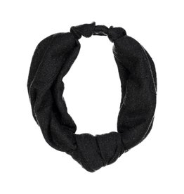 becca + bella becca and bella Lurex Knit Street Knot Turban (Black)