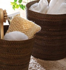 """Calaisio Woven Reed Waste Basket - 11""""H"""