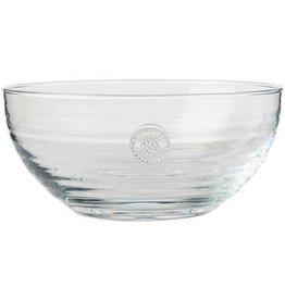 "Juliska Berry and Thread Medium Glass Bowl -  Clear - 8.5""W x 4""H - 2Qt."