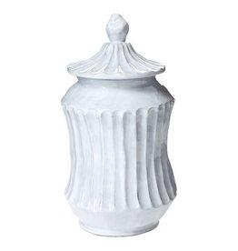 Vietri Incanto Stripe Medium Canister - White