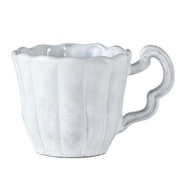 Vietri Incanto Scallop Mug - White