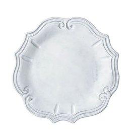 "Vietri Incanto Baroque Dinner Plate - White - 12""D"