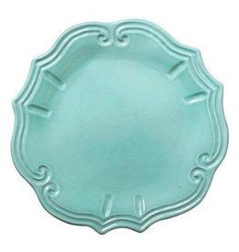 Vietri Incanto Baroque Dinner Plate - Aqua