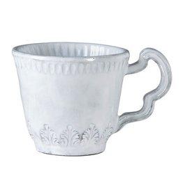 Vietri Incanto Leaf Mug - White