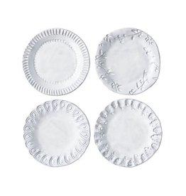 Vietri Incanto Canape Plate - White