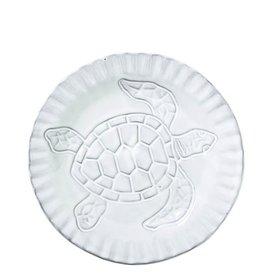 Vietri Incanto Mare Turtle Canape Plate - White
