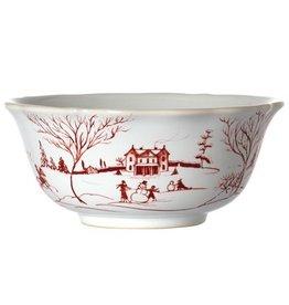 "Juliska Country Estate Cereal/Ice Cream Bowl - Ruby - 6.5""D x 3""H - 13 Oz."